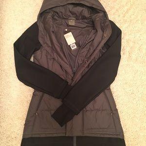 NWT Calia XS hooded black/gray jacket